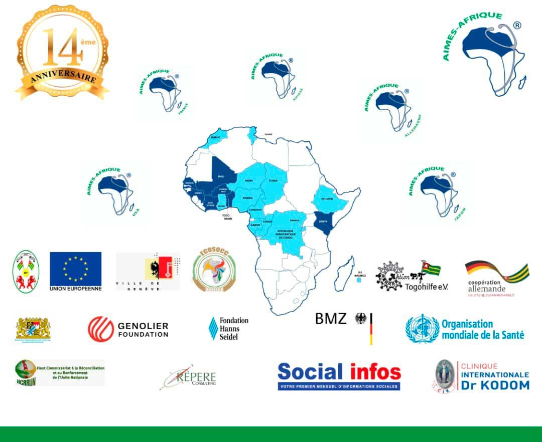 14-jähriges Jubiläum von Aimes-Afrique